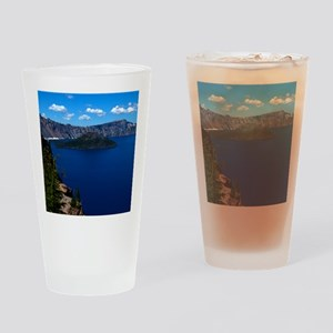 (4) Crater Lake  Wizard Island Drinking Glass