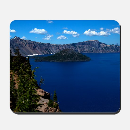 (4) Crater Lake  Wizard Island Mousepad