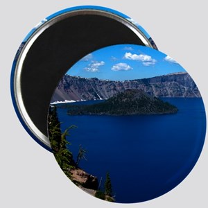 (4) Crater Lake  Wizard Island Magnet