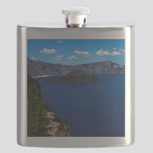 (4) Crater Lake  Wizard Island Flask