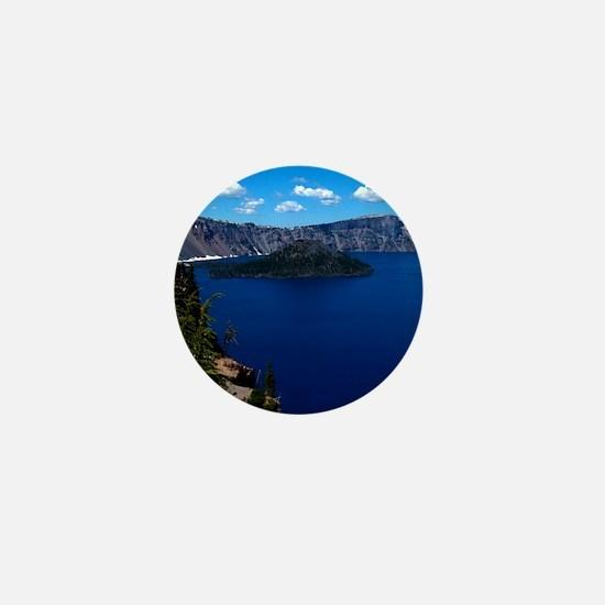 (4) Crater Lake  Wizard Island Mini Button