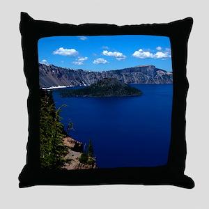 (4) Crater Lake  Wizard Island Throw Pillow
