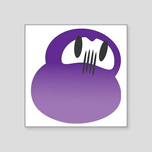 "daruma purple logo Square Sticker 3"" x 3"""