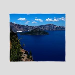 (6) Crater Lake  Wizard Island Throw Blanket