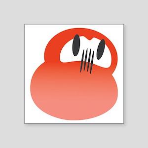 "daruma red logo Square Sticker 3"" x 3"""