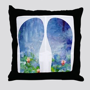 WATERLILIESFLIPS Throw Pillow