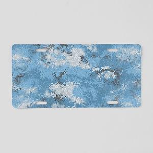 Blue Digi Camo Aluminum License Plate