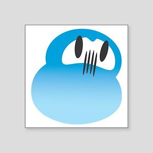 """daruma skyblue logo Square Sticker 3"""" x 3"""""""