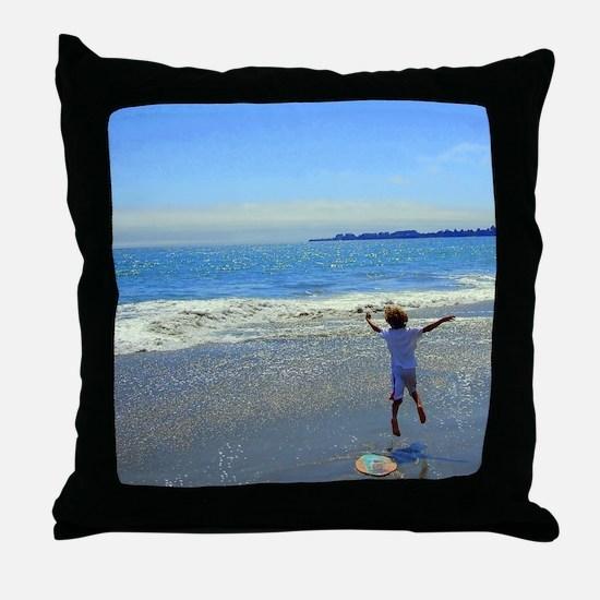 Skimboard Throw Pillow