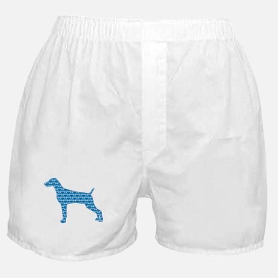 Bone Weimaraner Boxer Shorts