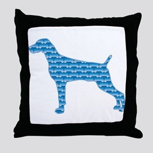 Bone Weimaraner Throw Pillow