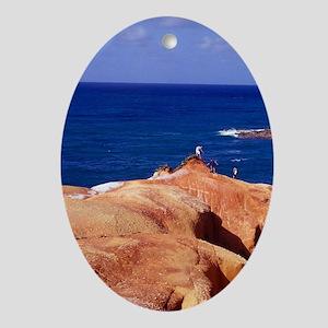 Red Rock, Pointe Baptiste, Calibishi Oval Ornament