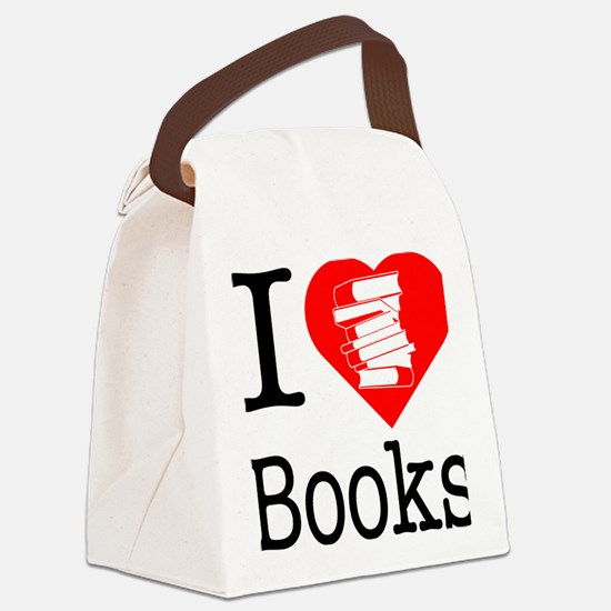 I-Heart-Books Canvas Lunch Bag