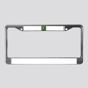 Panda in Bamboo License Plate Frame