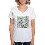 Celtic Puzzle Square Women's V-Neck T-Shirt