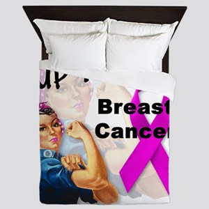 Up Yours Breast Cancer Queen Duvet