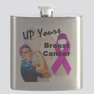 Up Yours Breast Cancer Flask