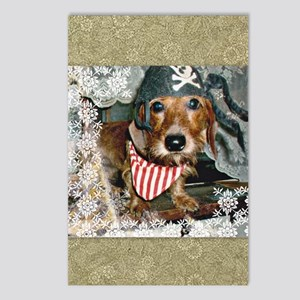 Doxie in Pirate Costume Postcards (Package of 8)