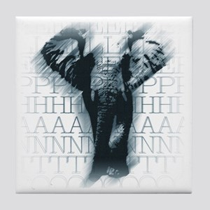 aquelephant-face Tile Coaster