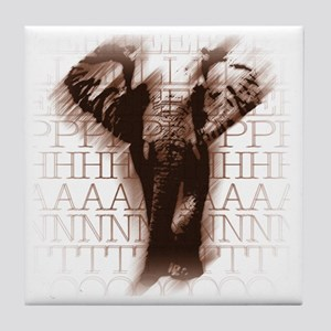 orngelephant-face Tile Coaster