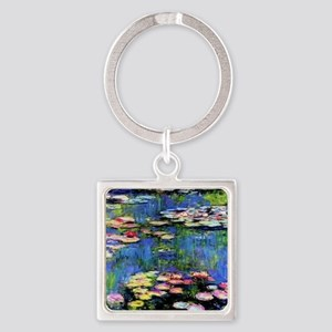 MONETWATERLILLIESprint Square Keychain