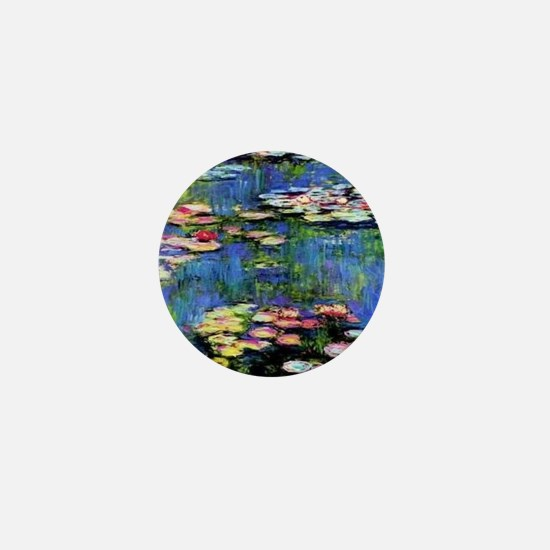 MONETWATERLILLIESprint Mini Button