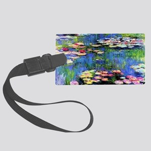 MONETWATERLILLIESprint Large Luggage Tag