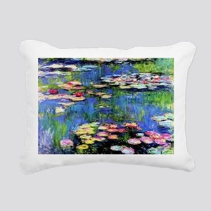 MONETWATERLILLIESprint Rectangular Canvas Pillow