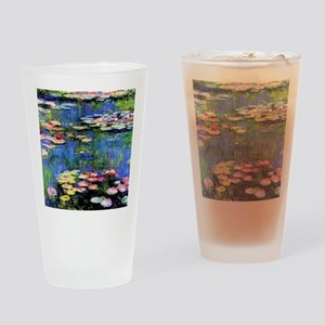 MONETWATERLILLIESprint Drinking Glass