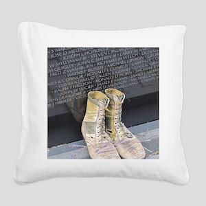 Boots at Vietnam Veterans Mem Square Canvas Pillow