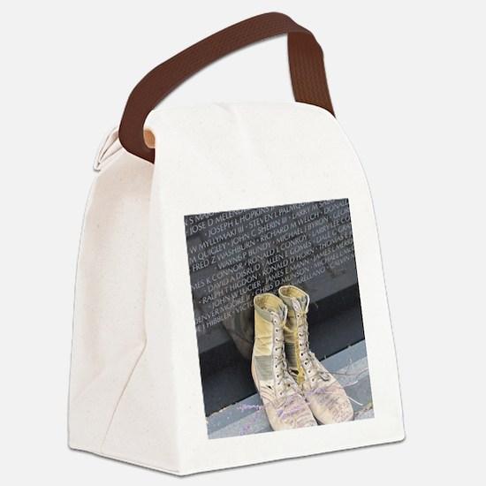 Boots at Vietnam Veterans Memoria Canvas Lunch Bag