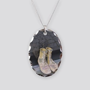 Boots at Vietnam Veterans Memo Necklace Oval Charm