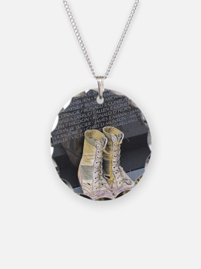 Boots at Vietnam Veterans Me Necklace