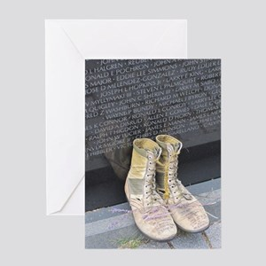 Boots at Vietnam Veterans Memorial W Greeting Card
