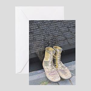 Boots at Vietnam Veterans Memorial W Greeting Card