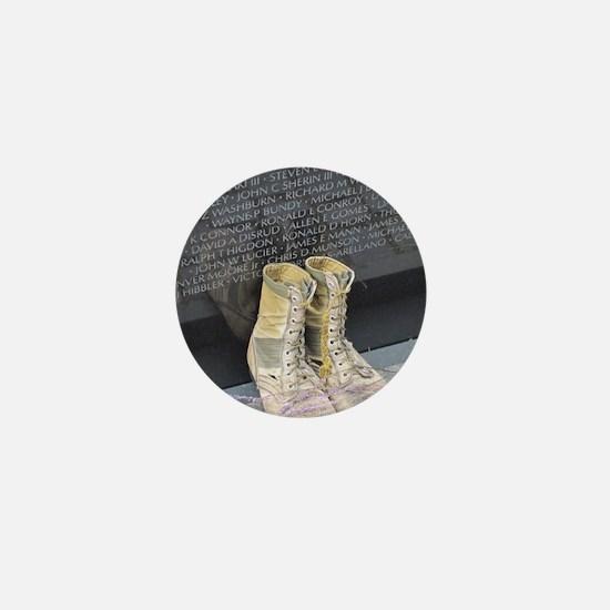 Boots at Vietnam Veterans Memorial Wal Mini Button