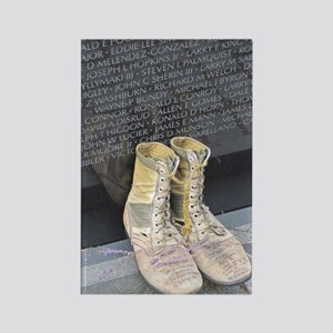 Boots at Vietnam Veterans Memoria Rectangle Magnet