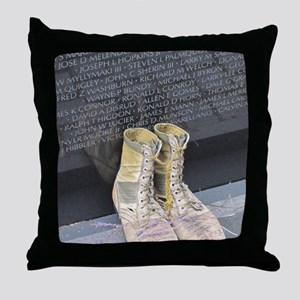 Boots at Vietnam Veterans Memorial Wa Throw Pillow