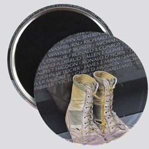 Boots at Vietnam Veterans Memorial Wall Magnet