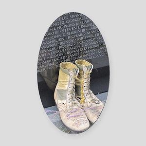 Boots at Vietnam Veterans Memorial Oval Car Magnet