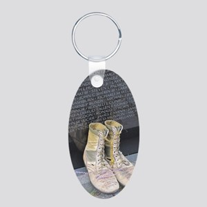 Boots at Vietnam Veterans M Aluminum Oval Keychain