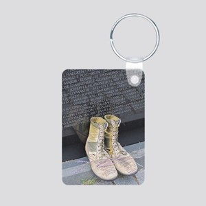 Boots at Vietnam Veterans  Aluminum Photo Keychain