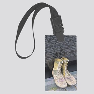 Boots at Vietnam Veterans Memori Large Luggage Tag