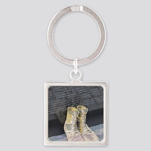 Boots at Vietnam Veterans Memorial Square Keychain