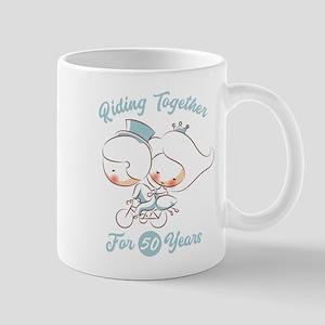 Riding Together 50 Years 11 oz Ceramic Mug