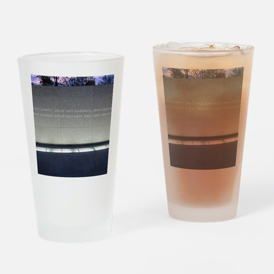 MLK Darkness and Love Drinking Glass