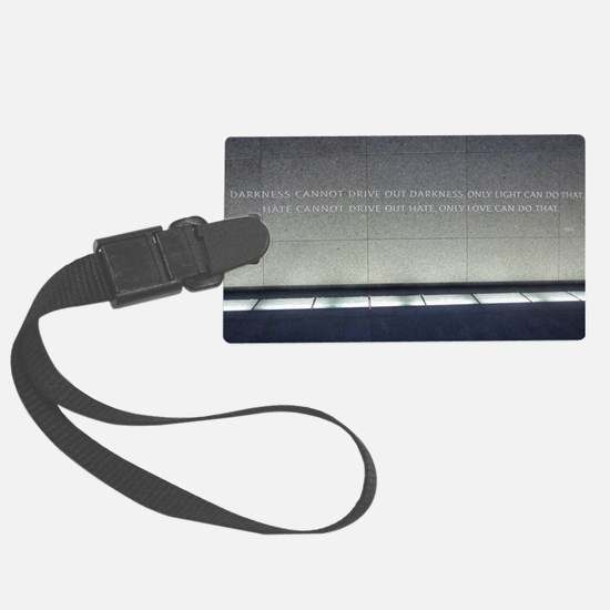 MLK Darkness and Love Luggage Tag