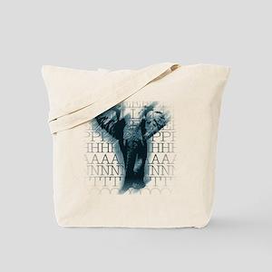 crib-wtelephant-face Tote Bag