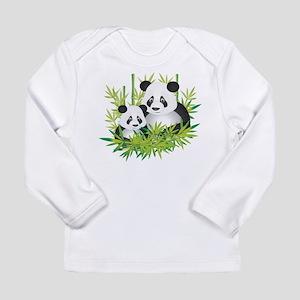 Two Pandas in Bamboo Long Sleeve T-Shirt