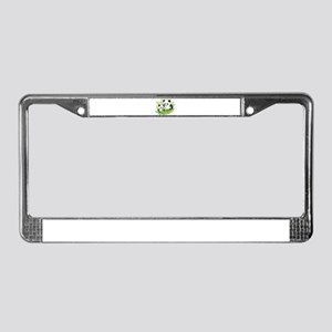 Two Pandas in Bamboo License Plate Frame